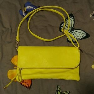 Charming Charlie Yellow Clutch